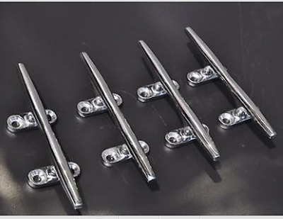 (4pcs) 6'' STAINLESS STEEL ROPE CLEAT-DECK/BOAT/YACHT ISURE MARINE