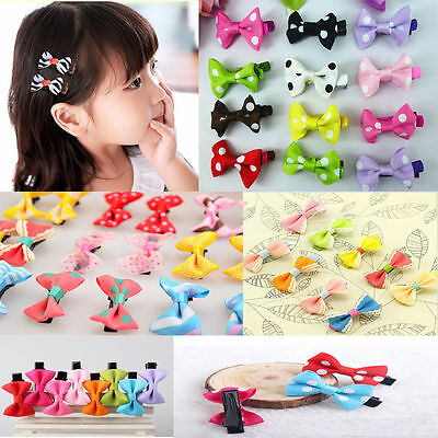 12pcs Bowknot Headband Kids Baby Girl Toddler Bow Hair Clip Headwear Accessories