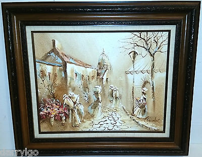 "Boris Chezar (1913-2008) Original Oil/Sand Painting (SIGNED) 27""x 24"" Framed Art"