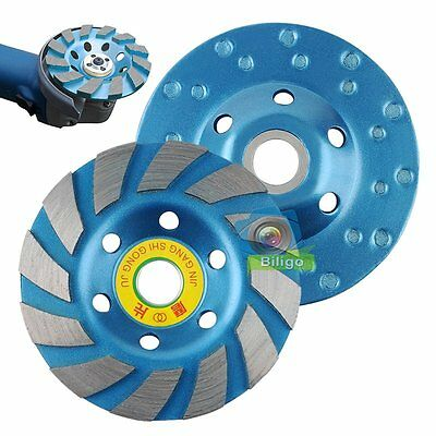 "4"" 100mm Diamond Grinding CUP Wheel Disc Grinder Concrete Granite Stone【US】"