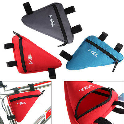 Bike Cycling Triangle Bag Front Frame Bicycle Black Pouch Sporting Accessories