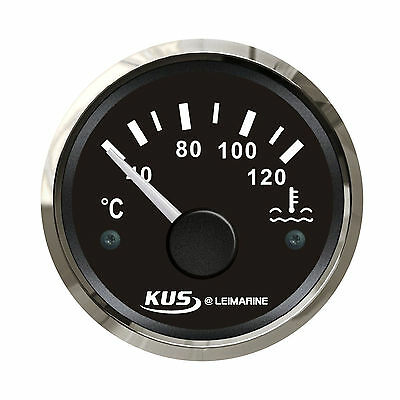 KUS Water Temp Gauge Temperature 40-120°C Electrical Car Boat Truck 12V/24V New
