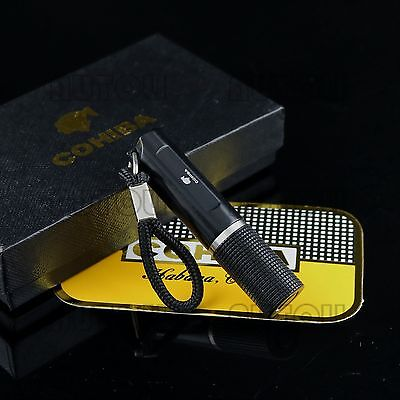 COHIBA Stainless Steel 7mm Twist Retractable Cigar Punch Key Chain/Ring