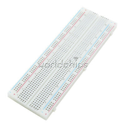 2Pcs MB-102 Solderless Breadboard Protoboard 830 Tie Points 2 buses Test Circuit
