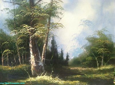 Oil Painting Original Forest Landscape Signed Tarley 16 x 20 Canvas Beautiful