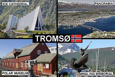 SOUVENIR FRIDGE MAGNET of TROMSO TROMSØ NORWAY