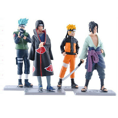 HOT Anime Naruto Set 4 pcs Figures Collection Kakashi Uzumaki Naruto Itachi