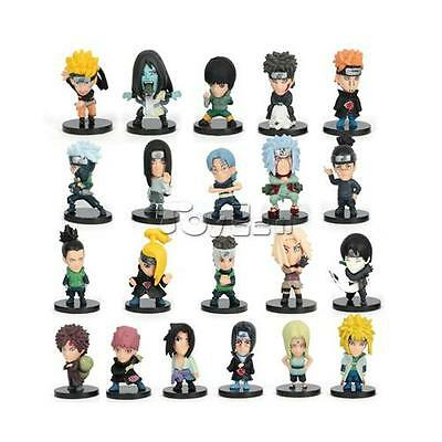 HOT Anime Naruto Set of 21 pcs Action Figures 2'' PVC Dolls Collectible Toy Gift