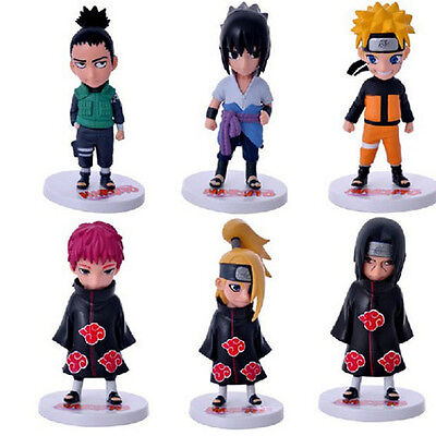 Anime Naruto Set of 6 Action Figures PVC Model Collectible Gift Toy 21th Version