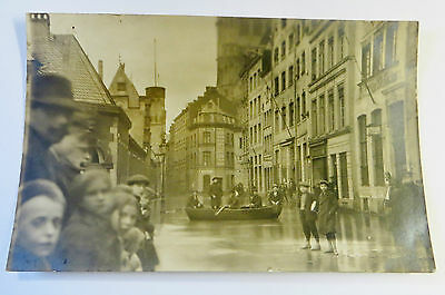 Wonderful Early Real Photo Postcard Flood Disaster In Europe