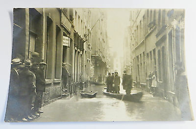 b Wonderful Early Real Photo Postcard Flood Disaster In Europe