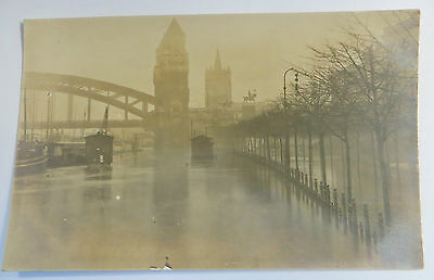 c Wonderful Early Real Photo Postcard Flood Disaster In Europe