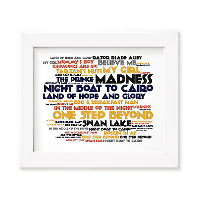 `Cadence` MADNESS Art Print Typography Album Song Lyrics Signed Wall Poster