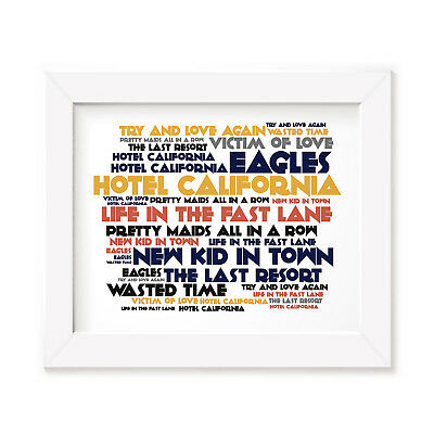 `Cadence` THE EAGLES Art Print Typography Album Song Lyrics Signed Wall Poster