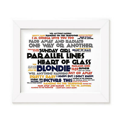 `Cadence` BLONDIE Art Print Typography Album Song Lyrics Signed Wall Poster