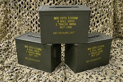 ( 3 Pack) Fat 50 Cal Pa108 Saw Box Ammo Can Very Good Condition *free Shipping *