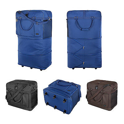 XXL 40inch Expandable zipped Holdall Travel Wheelie Bag Trolley Rolling Bag
