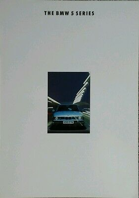 BMW 5 Series Sales Brochure February 1992 includes M5