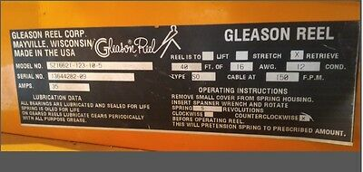SZ Gleason Hazardous Duty Cable Reel SZ16621-123-10-5