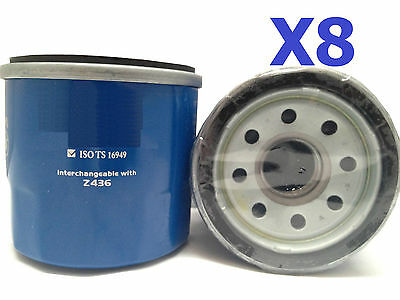 8X Oil Filters Suits Z436 FORD MAZDA MITSUBISHI NISSAN SUBARU KIA