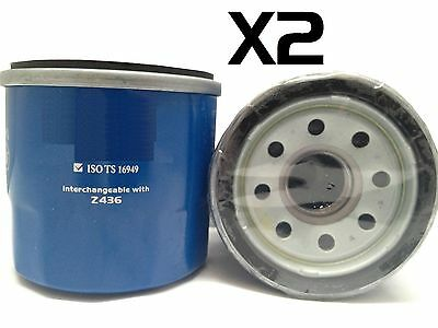 2X Oil Filters Suits Z436 FORD MAZDA MITSUBISHI NISSAN SUBARU KIA