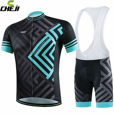 2016 CHEJI Team Men Cycling Jerseys Wear Bicycle Bike Shorts Suit Gel Padded