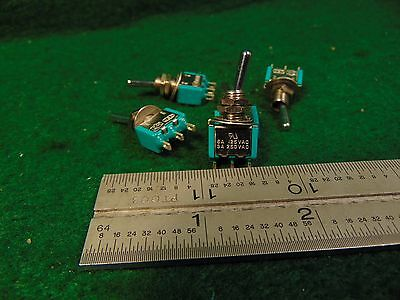 Lot of 5 C-H SPDT MOMENTARY TOGGLE SWITCH 125/250VAC 6/3 Amp NIB NOS