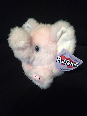 """Puffkins Pink Elephant """"petals"""" With Tags"""