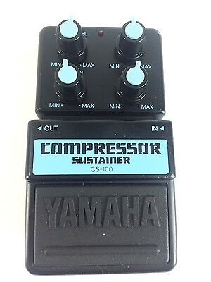 Yamaha CS-100, Compressor/Sustainer, Guitar Effect Pedal, MIJ, Early 90's