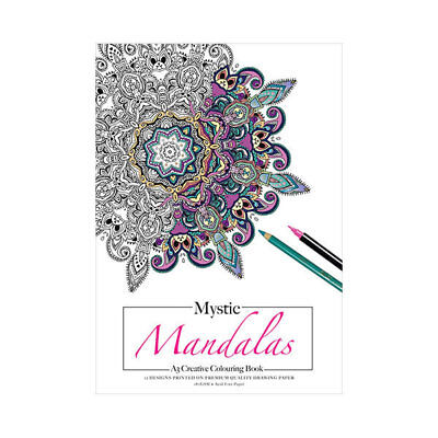 Adult Colouring Book Mystic Mandalas 12 Pages