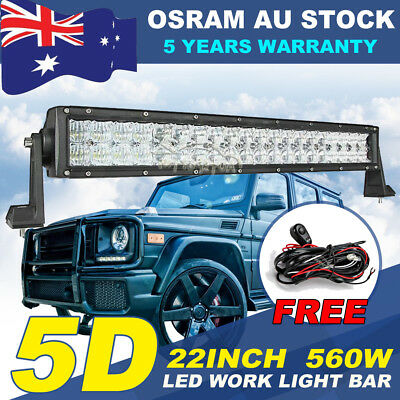 36INCH 546W OSRAM LED Work Light Bar Flood Spot Combo Offroad Truck Pickup ATV