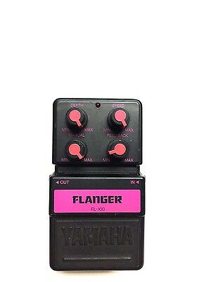 Yamaha FL-100, Flanger, Guitar Effect Pedal, Made In Japan, Early 90's