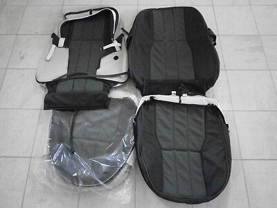 Range rover L322 vogue front seat covers Jet & charcoal oxford leather WUN
