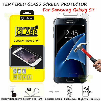 9H Premium Real Tempered Glass Screen Protector Film For SAMSUNG Galaxy S7