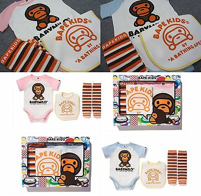 A BATHING APE BAPE KIDS BABY MILO GIFT SET 2 Colors From Japan New