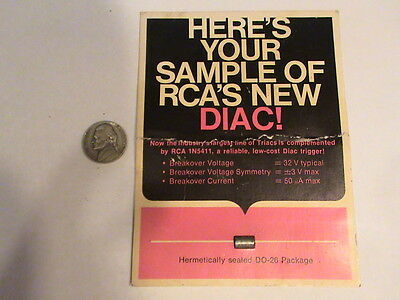 Rca Triac Diac Trigger New Sample 1N5411