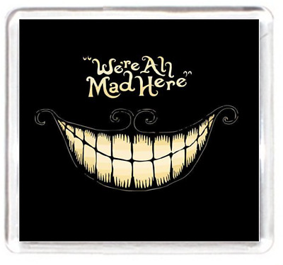 Smile Grin Mad Crazy Mental Art Cartoon Quotes Saying Gift Fridge Magnet