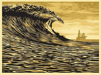 Obey Shepard Fairey Poster New Wave Signed & Numbered #/450