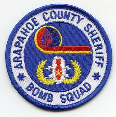ARAPAHOE COUNTY COLORADO CO colorful BOMB SQUAD SHERIFF POLICE PATCH