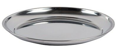 35cm Stainless Steel Round Serving Trays Platter Bar Restaurant Tray Tea Tray