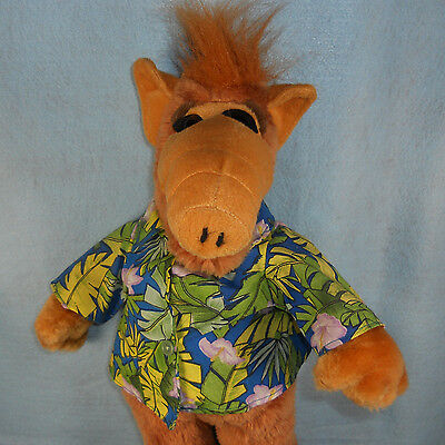 "20"" Alf Plush Stuffed Animal Alien Life Form Hawaiian Shirt"
