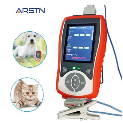 2.8 Color LCD Veterinary handheld pulse oximeter, SPO2+PR+Temp, Manufactor CE