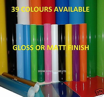 BUY 2 GET 1 FREE 1mtr Long 300mm Wide Roll Sticky Back Plastic Sign Vinyl
