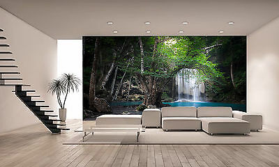 Jungle Waterfall, Thailand Wall Mural Photo Wallpaper GIANT DECOR Paper Poster