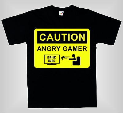 Camiseta para niños - CAUTION ANGRY GAMER - AWSOME FUNNY KIDS T-SHIRT