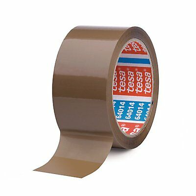 TESA 64014 Brown Silent Acrylic Packing Duct Tape 50mm x 66m