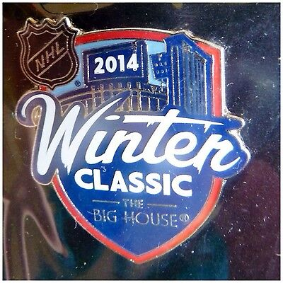 NHL Winter Classic 2014 Detroit Red Wings Toronto Maple Leafs NHL Logo Pin Badge