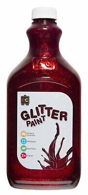 EC Paint Glitter Water Based Acrylic Non Toxic 2 Litre  - Red