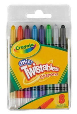 Crayola Mini Twistables Coloured Crayons - 8 Pack