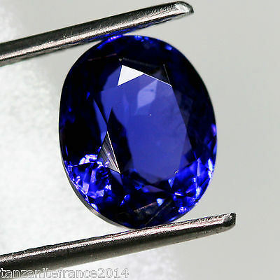 6,35 cts, TANZANITE CERTIFIEE NATURELLE AAA COLOR  (pierres précieuses/ fines)